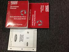 2003 Ford Explorer Sport Trac Service Shop Repair Manual Set FACTORY W EWD & TSB