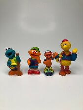 Vintage Lot of 4 SESAME STREET FIGURES Jim Henson Plastic PVC