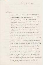 Charles Augustin de SAINTE-BEUVE autographe / Belle lettre sur la SUISSE