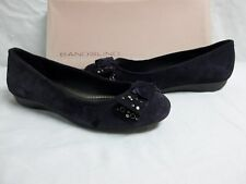 Bandolino Size 5 M Noise Maker Dark Purple Leather Flats New Womens Shoes