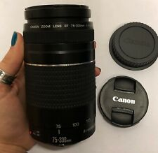 Canon EF 75-300mm F/4-5.6 III Telephoto Zoom Lens with Caps