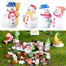 6x Miniatures Christmas Snowman Terrarium Figurines Micro Landscape Toy Gift