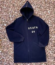 Vtg 1950s USAF Cadet Coat Parka Military Air Force Jacket 1960s Conmar Zip 50s M