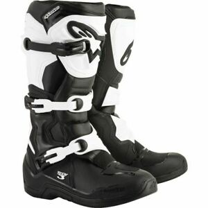 Alpinestars Tech 3 Boots - Black/White, All Sizes