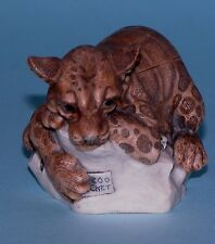"Harmony Kingdom box TJLE2 ""Sweet Spot"" cats 2002-2008 NIB Clouded Leopard"