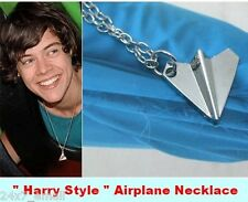 Genuine 1D One Direction~ Silver Plated Harry's Paper Airplane Necklace Pendant