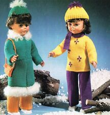 "Dolls knitting  pattern to fit 20"" doll.  Laminated copy. (V Doll 65)"