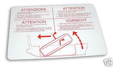 Alfa Romeo Alfetta GT/GTV GTV6 Factory Spare Tire Decal