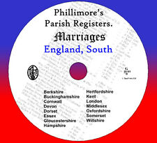 750+ Parish Registers Marriage South England 16 counties Phillimore's Marriages