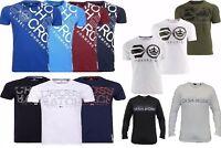 New Crosshatch T Shirt Long & Short Sleeved Crew Neck Summer Printed Cotton M-XL