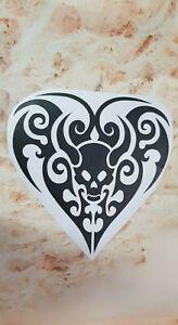 GOTHIC HEART vinyl decal sticker mirror wall car shop 22x21cm UV & WATERproof