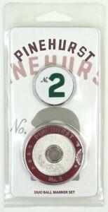 PINEHURST No. 2 DUO BALL MARKER SET w/Removable Golf BALL MARKER