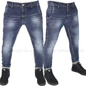 Jeans Uomo Tasca America elasticizzato Denim Pantaloni slim nuovo 687