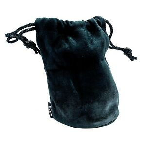 "Genuine Nikon OEM Black Velvet Lens Pouch Case Bag 6"" Deep 4.25"" Wide"