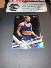 Ronda Rousey 2017 Topps Chrome UFC Refractor card #98