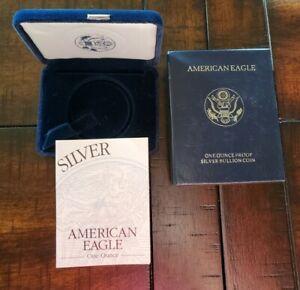 1997 Proof $1 American Silver Eagle Box & COA | No Coin