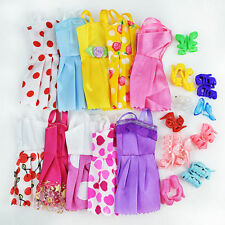20 Items 10Pcs Wedding Fashion Gown Dresses & Clothes 10 Shoes For Barbie Doll H