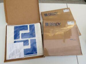 Brady Tough Stripe Corner Floor sticker decal marker safety osha Blue Lot 104432