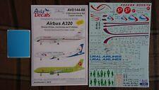 Airbus A-320 1/144  Avia Decals silk   S7, Ural , Rossiya  Big Stencils + Masks