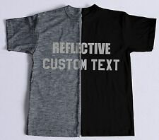 New 3M Reflective Lettering Custom Your Text Logo T-Shirt