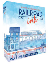 Railroad Ink Deep Blue Edition Roll And Write Dice Board Game CMON COLRRI001