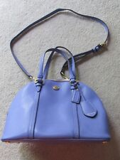 Authentic COACH domed leather satchel - periwinkle blue