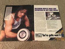 1993 BRET HART HITMAN ICO PRO Poster Print Ad BODYBUILDING PROGRAM WWF WCW RARE