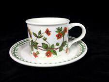 PORTMEIRION Botanic Garden  Cup and Saucer Set Scarlet Pimpernel