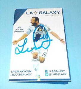 Landon Donovan Signed Autographed 2014 LA Galaxy Soccer Schedule Rare