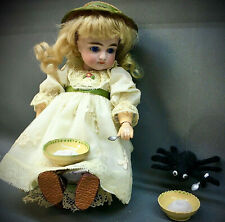 "Rare 9"" Early Kestner 169 Little Miss Muffet - Closed Mouth Antique Doll Bisque"