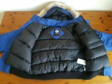 Mens Genuine Canada Goose Chilliwack Jacket XL Blue-Latest Removable Fur Model!