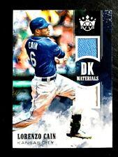 2018 Panini Donruss Optic Autographs Blue/25 #OA-LC Lorenzo Cain Auto Card Baseball Trading Cards