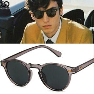 Steampunk sunglasses  retro round large frame glasses plastic transparent ocean