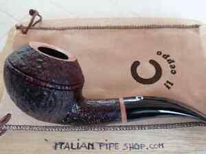 Il Ceppo freehand Bent Bulldog handmade briar pipe stem acrilic 8 oz 2,9