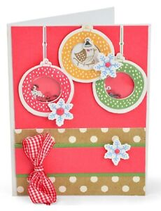 Sizzix Framelits Set HANGING ORNAMENTS 663680 Includes10 Dies & Matching Stamps