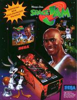 Space Jam Pinball FLYER Original NOS 1996 Michael Jordan Bugs Bunny Art Sheet