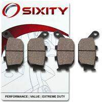 Sixity Organic Brake Pads  FA174 FA174  Front + Rear Replacement Kit Full nv