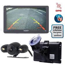 "7"" SAT NAV Bluetooth Vehicle GPS Navigation Unit Reverse Camera UK IE Map XGODY"