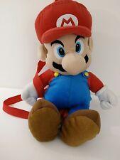 """Large 18"""" Super Mario Plush Backpack Zippered 2011 Nintendo Stuffed Plush Toy"""