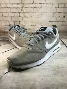 Nike Air Max Tavas Leather Suede Gray Running Shoes 802611-005 Men's size 13