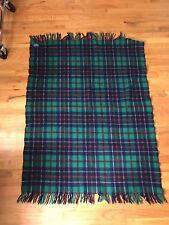 Pendleton Wool Blanket Washable Tartan Plaid Made In USA