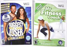 (Lot of 2) Nintendo Wii Games - The Biggest Loser Challenge & My Fitness Coach