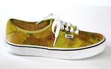 VANS x Vincent VAN GOGH Sunflowers Flower Shoes Sneakers Yellow White 7 M 8.5 W