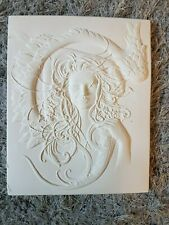 Art Deco Lady Face Swan Rubber Latex Wall Plaque Mould Mold Art Nouveau New