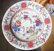 assiette signé sceau rouge chine. Asie. decor emaux