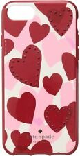 HTF!! NEW NIB KATE SPADE JEWELED HEART RED/PINK COMOLD IPHONE CASE COVER 8/7