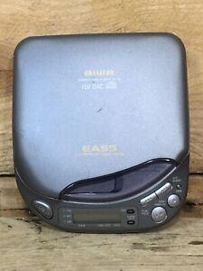 Aiwa XP-55 Portable CD Player EASS Anti Skip 1Bit DAC For Parts Turn On Not Pla