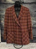 Women's 70's VTG USA Pendleton 100% Virgin Wool LINED Jacket Blazer Coat Sz 7 8