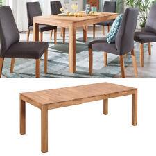 Esstisch Holm Esszimmer ausziehbarer Tisch in Wildeiche massiv geölt 160-240x90