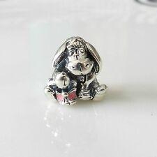 Authentic Pandora Charm DISNEY EEYORE WITH DARK PINK ENAMEL No.791567EN80